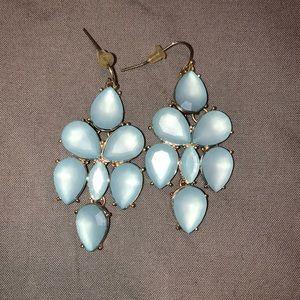 Light Blue Statement Earrings